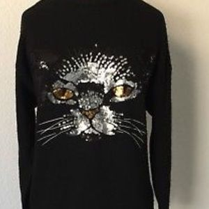 Forever 21 Sweaters - Black never worn cat sweater forever 21